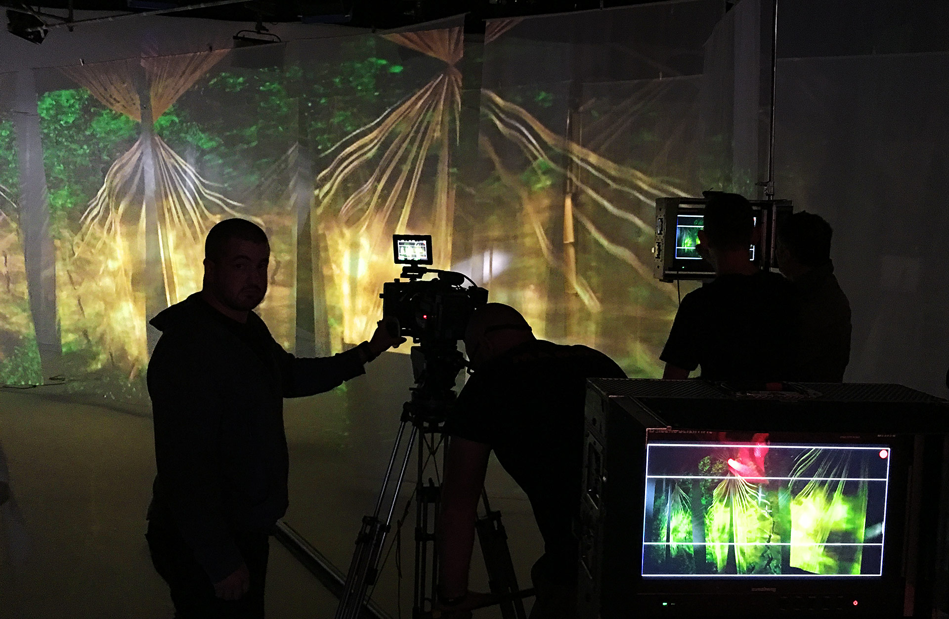 front projection effects being used