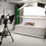 video production in mezzanine studio big shed Manchester
